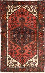 Hamadán Szőnyeg 126X202 Keleti Csomózású Sötétpiros/Sötétbarna (Gyapjú, Perzsia/Irán)