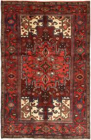 Hamadan Alfombra 125X194 Oriental Hecha A Mano Rojo Oscuro/Marrón Oscuro (Lana, Persia/Irán)