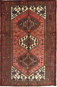 Hamadan Rug 126X195 Authentic  Oriental Handknotted Dark Red/Dark Brown (Wool, Persia/Iran)