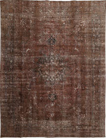 Colored Vintage Rug 294X381 Authentic  Modern Handknotted Light Brown/Dark Brown/Brown Large (Wool, Persia/Iran)