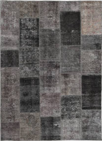 Patchwork Rug 165X237 Authentic  Modern Handknotted Dark Grey/Light Grey (Wool, Persia/Iran)