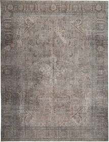 Colored Vintage Rug 294X379 Authentic  Modern Handknotted Light Grey/Dark Grey Large (Wool, Persia/Iran)