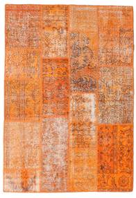 Patchwork Rug 141X202 Authentic  Modern Handknotted Orange/Light Brown (Wool, Turkey)