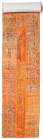 Patchwork Dywan 81X605 Nowoczesny Tkany Ręcznie Chodnik Pomarańczowy/Jasnobrązowy (Wełna, Turcja)