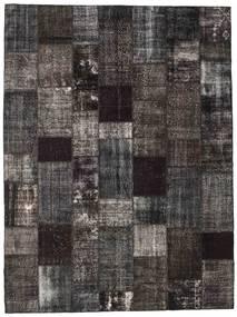 パッチワーク 絨毯 273X367 モダン 手織り 濃いグレー/黒 大きな (ウール, トルコ)