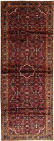 Hosseinabad Teppich  105X295 Echter Orientalischer Handgeknüpfter Läufer Dunkelrot (Wolle, Persien/Iran)