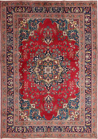 Mashad Rug 197X285 Authentic  Oriental Handknotted Brown/Dark Purple (Wool, Persia/Iran)
