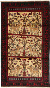 Belouch Alfombra 97X173 Oriental Hecha A Mano Rojo Oscuro/Beige Oscuro (Lana, Persia/Irán)
