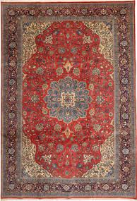 Sarough Matta 238X350 Äkta Orientalisk Handknuten Mörkröd/Roströd (Ull, Persien/Iran)
