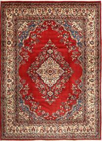 ハマダン シャフバフ 絨毯 220X310 オリエンタル 手織り 深紅色の/茶 (ウール, ペルシャ/イラン)