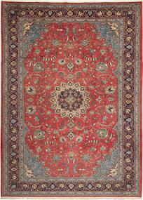 Sarough Matto 246X342 Itämainen Käsinsolmittu Vaaleanruskea/Ruskea (Villa, Persia/Iran)