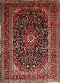 カシャン 絨毯 253X345 オリエンタル 手織り 深紅色の/茶 大きな (ウール, ペルシャ/イラン)