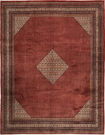 Sarouk Mir Rug 300X390 Authentic  Oriental Handknotted Dark Red/Dark Brown Large (Wool, Persia/Iran)