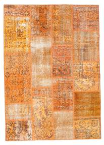 Patchwork Rug 141X200 Authentic  Modern Handknotted Orange/Light Brown (Wool, Turkey)