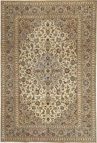 Keshan Patina Rug 197X295 Authentic  Oriental Handknotted Light Brown/Dark Brown (Wool, Persia/Iran)