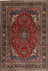 Hamadan Patina Rug 207X312 Authentic  Oriental Handknotted Dark Red/Dark Brown (Wool, Persia/Iran)
