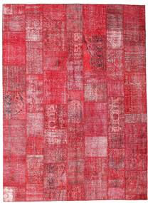 Patchwork Rug 254X349 Authentic  Modern Handknotted Rust Red/Crimson Red/Pink Large (Wool, Turkey)