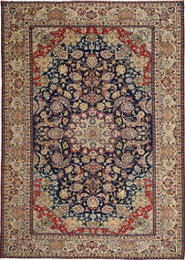 Najafabad Patina Rug 255X365 Authentic  Oriental Handknotted Light Brown/Dark Purple Large (Wool, Persia/Iran)