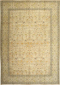 Tabriz Patina Tabatabai Rug 305X427 Authentic Oriental Handknotted Light Green/Yellow Large (Wool, Persia/Iran)