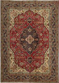 Tabriz Patina Matto 248X345 Itämainen Käsinsolmittu Tummanruskea/Tummanpunainen (Villa, Persia/Iran)