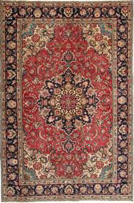 Tabriz Patina Matto 190X295 Itämainen Käsinsolmittu Tummanruskea/Tummanpunainen (Villa, Persia/Iran)