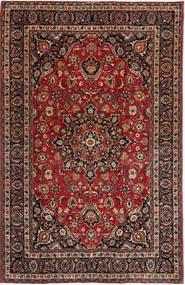 Mashad Πατίνα Χαλι 193X300 Ανατολής Χειροποιητο Σκούρο Κόκκινο/Μαύρα (Μαλλί, Περσικά/Ιρανικά)
