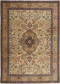 Tabriz Patina Matto 245X345 Itämainen Käsinsolmittu Vaaleanruskea/Tummanruskea (Villa, Persia/Iran)