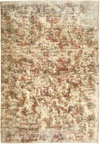 Colored Vintage Tapis 203X292 Moderne Fait Main Marron Clair/Beige (Laine, Perse/Iran)