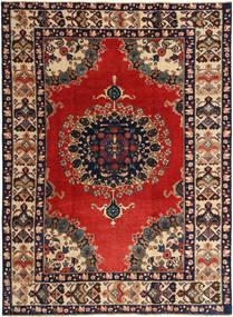 Ardebil Patina Teppich  218X305 Echter Orientalischer Handgeknüpfter Dunkelrot/Dunkellila (Wolle, Persien/Iran)