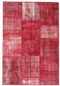 Patchwork Matto 123X181 Moderni Käsinsolmittu Punainen/Pinkki (Villa, Turkki)