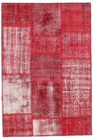 Patchwork Rug 122X181 Authentic  Modern Handknotted Crimson Red/Rust Red (Wool, Turkey)