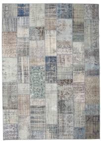 パッチワーク 絨毯 251X352 モダン 手織り 薄い灰色/濃いグレー 大きな (ウール, トルコ)