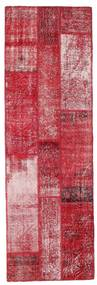 Patchwork Alfombra 81X252 Moderna Hecha A Mano Roja/Rosa (Lana, Turquía)