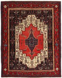 センネ パティナ 絨毯 120X155 オリエンタル 手織り 深紅色の/濃い茶色 (ウール, ペルシャ/イラン)
