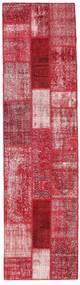 パッチワーク 絨毯 80X305 モダン 手織り 廊下 カーペット 赤/錆色 (ウール, トルコ)