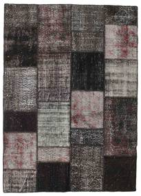 Patchwork Rug 164X229 Authentic  Modern Handknotted Black/Light Grey (Wool, Turkey)
