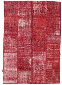 Patchwork Tæppe 161X233 Ægte Moderne Håndknyttet Rød/Rust (Uld, Tyrkiet)