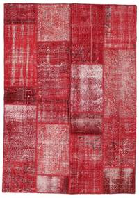 Patchwork Rug 162X231 Authentic  Modern Handknotted Crimson Red/Rust Red (Wool, Turkey)