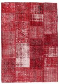 Patchwork Rug 163X229 Authentic  Modern Handknotted Crimson Red/Dark Red/Rust Red (Wool, Turkey)
