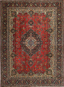 Tabriz Patina Rug 275X380 Authentic Oriental Handknotted Dark Red/Black Large (Wool, Persia/Iran)