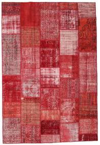 Patchwork Rug 201X299 Authentic  Modern Handknotted Crimson Red/Pink (Wool, Turkey)