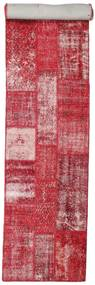 Patchwork Rug 81X403 Authentic  Modern Handknotted Hallway Runner  Crimson Red/Pink (Wool, Turkey)