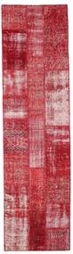 Patchwork Rug 82X305 Authentic  Modern Handknotted Hallway Runner  Crimson Red/Rust Red (Wool, Turkey)