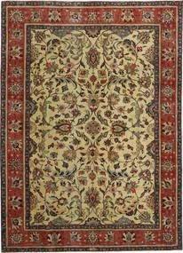 Tabriz Patina Matto 240X330 Itämainen Käsinsolmittu Tummanruskea/Vaaleanvihreä (Villa, Persia/Iran)