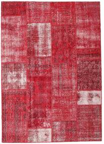 Patchwork Rug 164X229 Authentic  Modern Handknotted Crimson Red/Rust Red (Wool, Turkey)