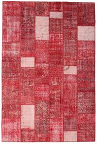 Patchwork Rug 201X305 Authentic  Modern Handknotted Crimson Red/Pink (Wool, Turkey)