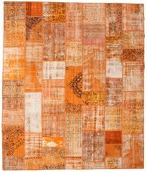 Patchwork Matto 253X298 Moderni Käsinsolmittu Oranssi/Vaaleanruskea Isot (Villa, Turkki)