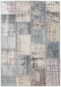 Patchwork Rug 161X232 Authentic  Modern Handknotted Light Grey (Wool, Turkey)