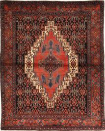 Senneh Matto 124X151 Itämainen Käsinsolmittu Tummanpunainen/Tummanharmaa (Villa, Persia/Iran)
