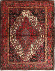 Senneh Rug 125X162 Authentic Oriental Handknotted Dark Red/Brown (Wool, Persia/Iran)